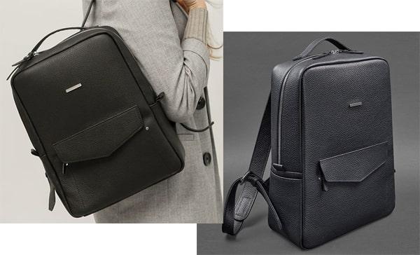 Кожаный рюкзак подарок бухгалтеру