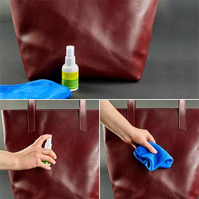 как почистить сумку из кожи