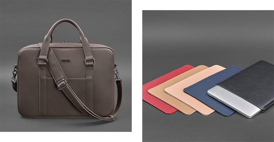 Кожаная сумка или чехол для гаджета