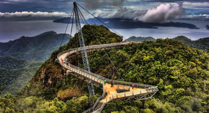 Мост в небе малайзия фото