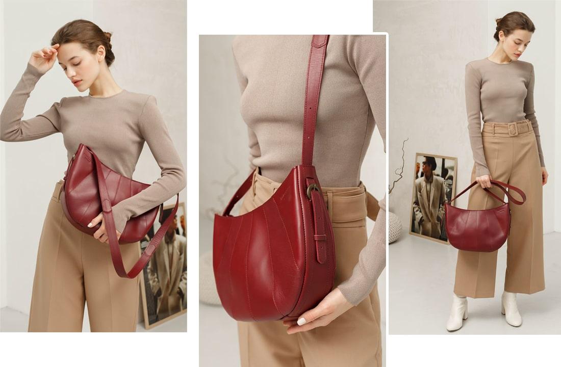 Какие женские сумки модные в 2021-2022 году: хобо сумка