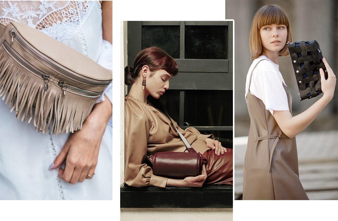 Фото образы с сумками: модные сумки тоут, модные сумки через плечо