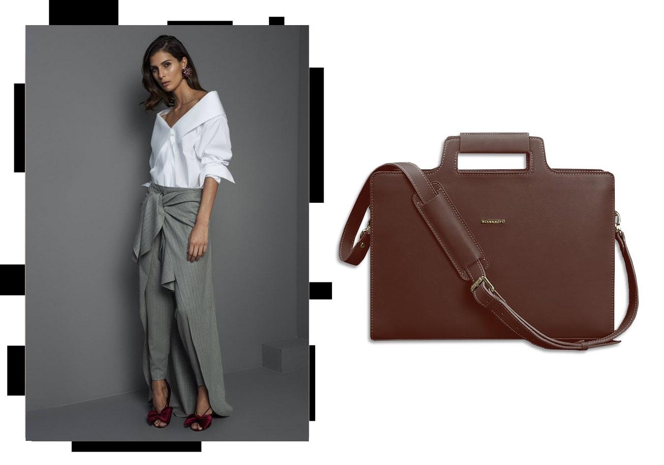 Женская сумка для ноутбука и документов виноград - бордовая - BN-BAG-36-vin