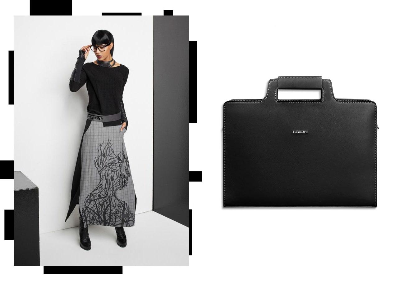 Женская сумка для ноутбука и документов графит - черная - BN-BAG-36-g