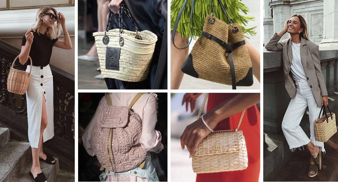 плетеные сумки 2019