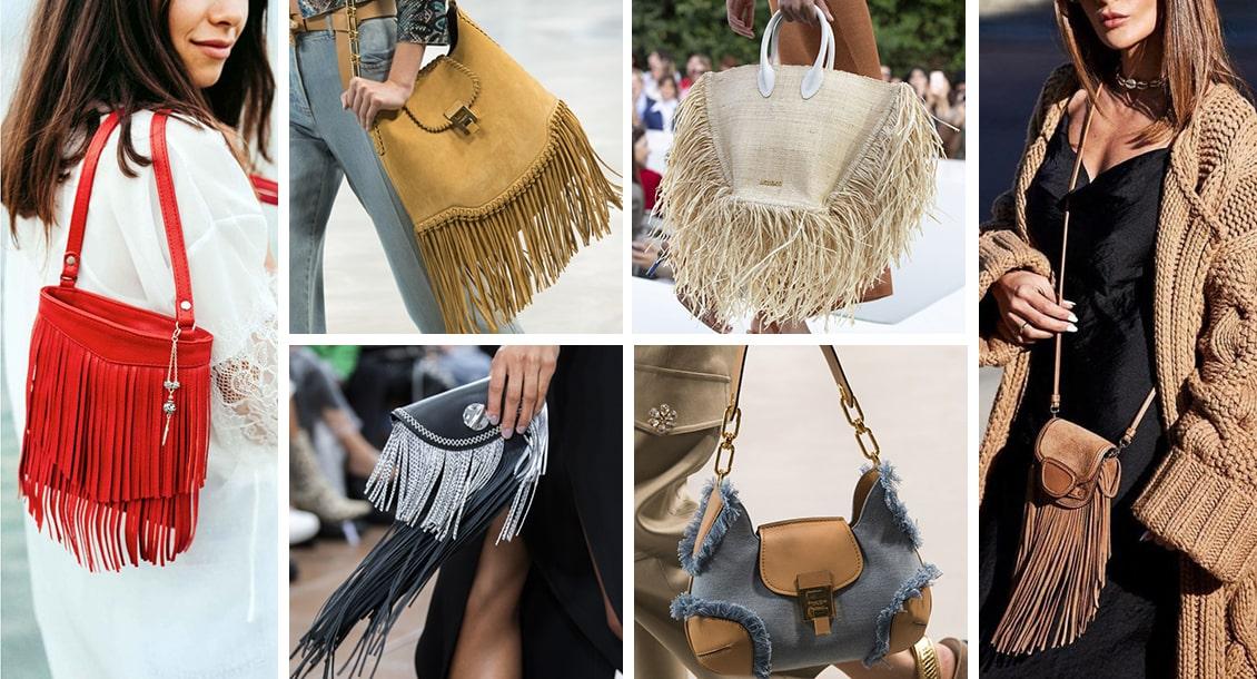 сумки с бахромой 2019