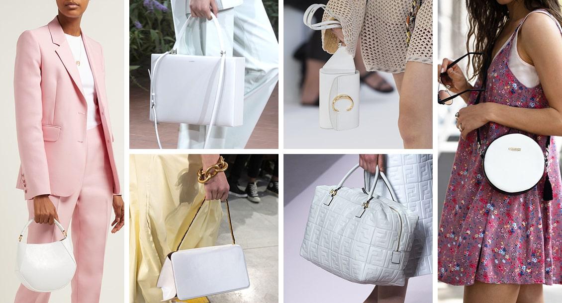 белые сумки 2019