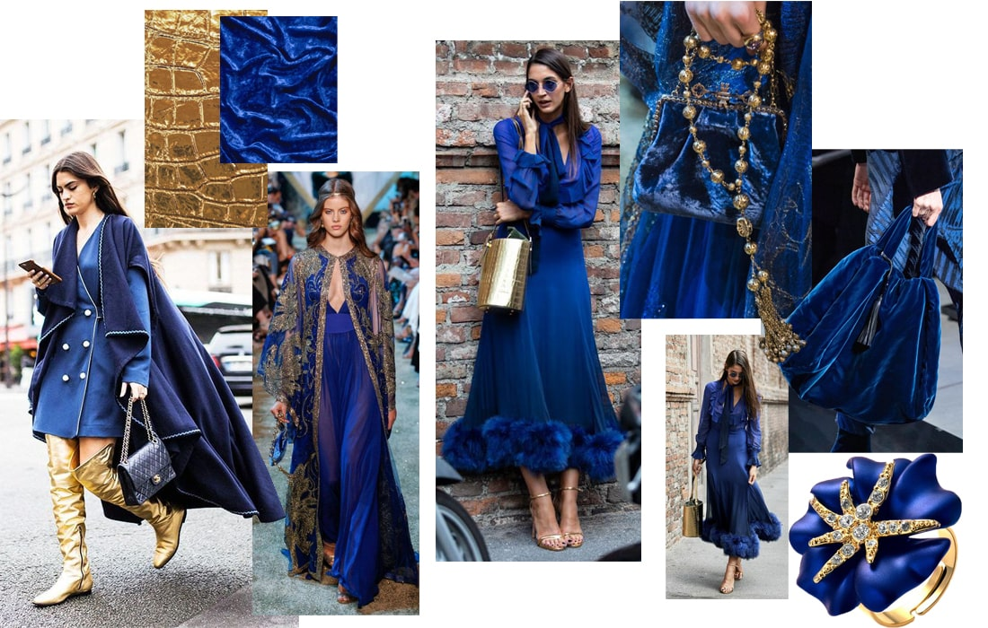 королевский синий цвет платья