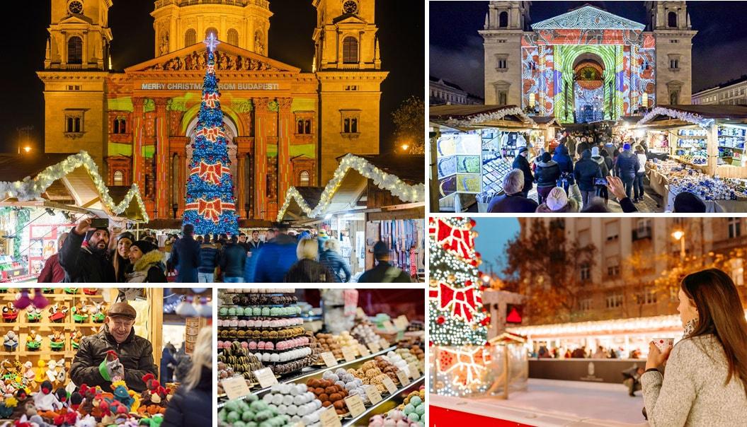 Рождественская ярмарка в Будапеште