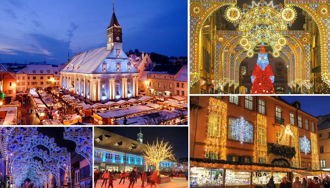 Рождественский рынок во Франции