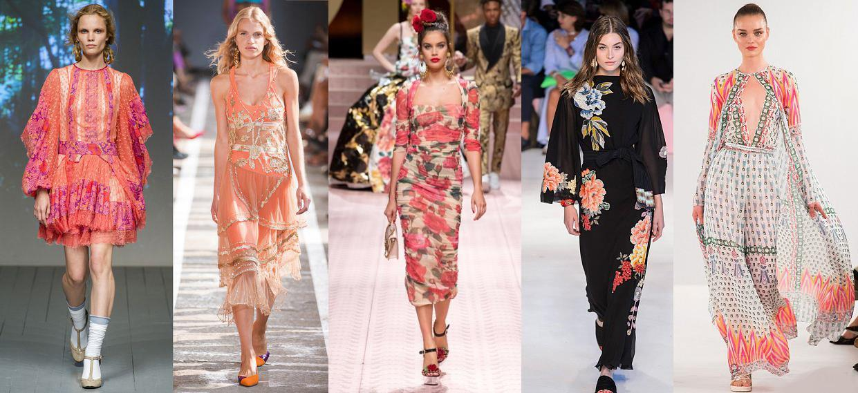 Bora Aksu, Blumarine, Dolce&Gabbana, Etro, Temperley London  весна-лето 2019