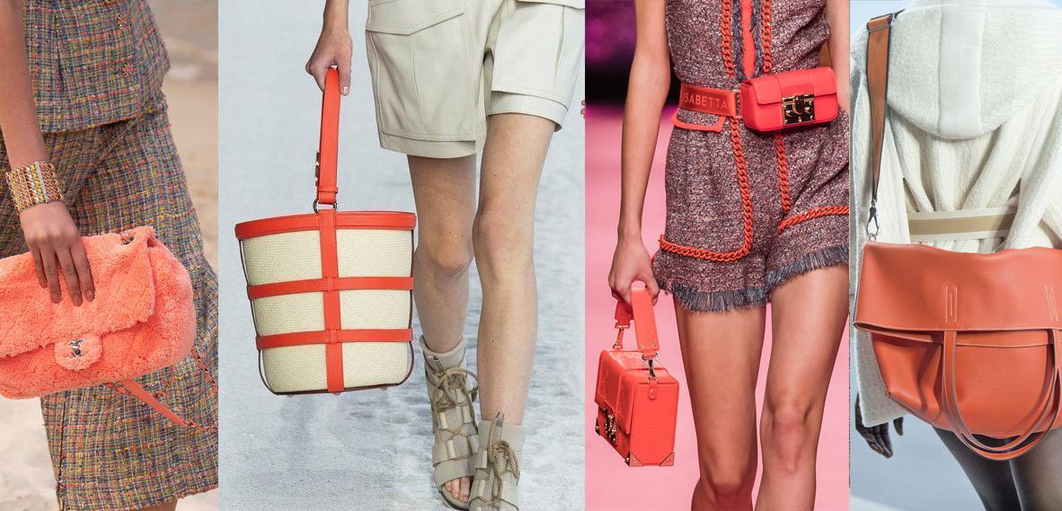 модные сумки весна-лето 2019 кораллового цвета