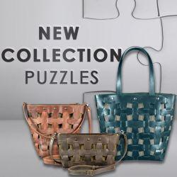 Коллекция кожаных плетеных сумок Пазл