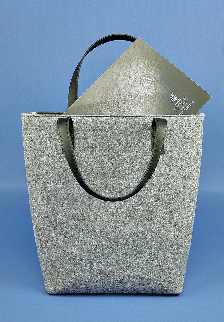 7c991d8bf56a Сумка шоппер D.D. фетр + кожа графит (BN-BAG-17-felt-g) купить в ...