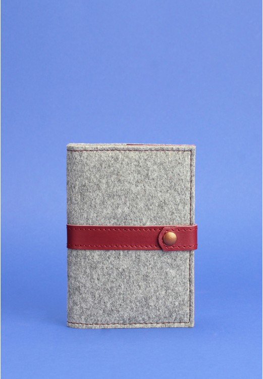 Фото Обложка для паспорта 1.1 кожа + эко-фетр виноград BlankNote