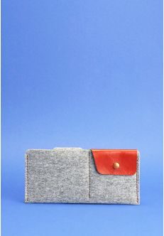 Портмоне-купюрник 8.0 фетр коньяк