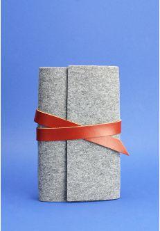 Кожаный блокнот (Софт-бук) 1.0 фетр коньяк