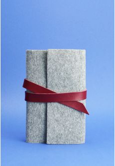 Кожаный блокнот (Софт-бук) 1.0 фетр виноград