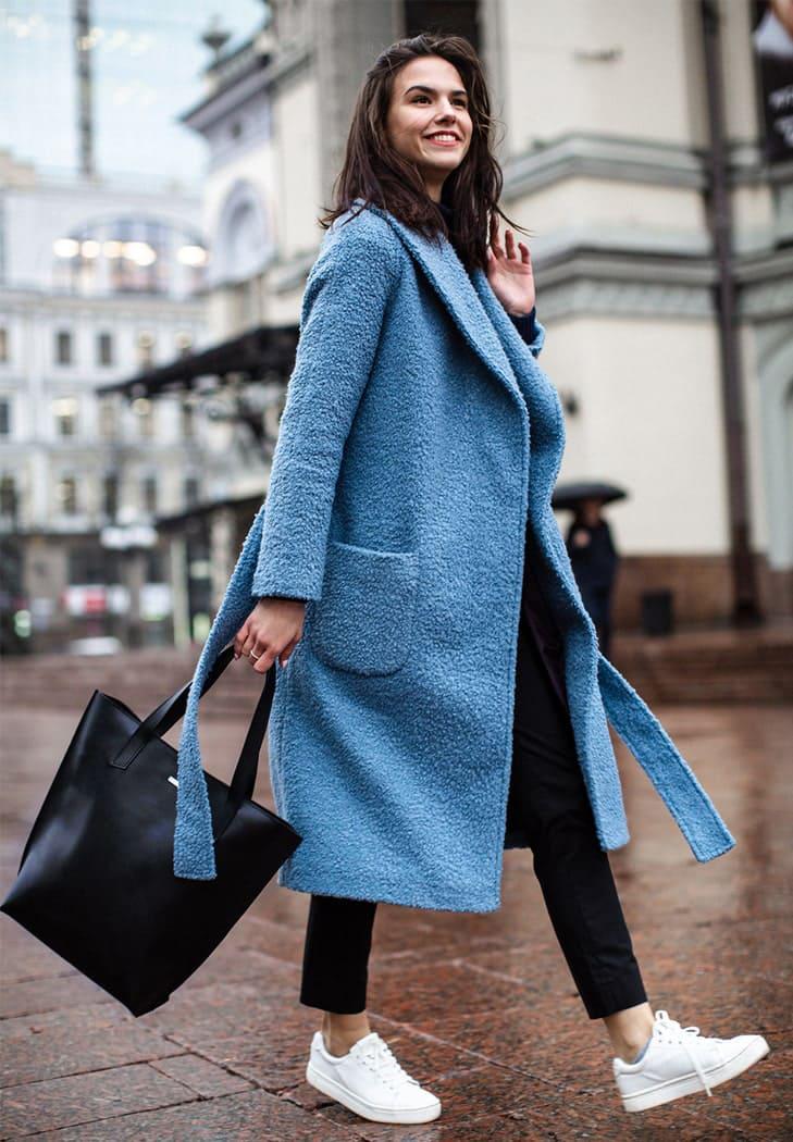 Фото Кожаная женская сумка шоппер D.D. черная