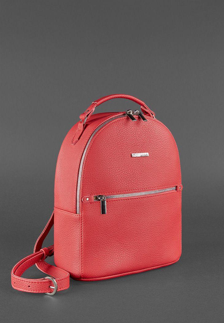a30ba8e5c00a Кожаный мини-рюкзак Kylie рубин (BN-BAG-22-rubin) купить в Киеве ...