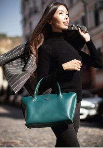 Женская сумка Midi Малахит - зеленая
