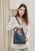 Фото Кожаная женская сумка-кроссбоди темно-синяя (BN-BAG-28-navy-blue)