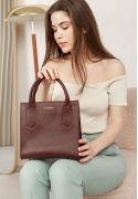 Фото Кожаная женская сумка-кроссбоди бордовая (BN-BAG-28-vin)
