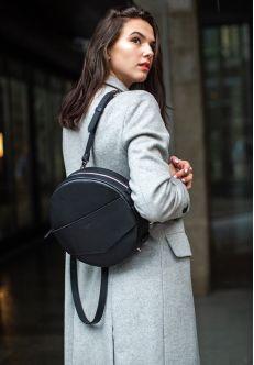 Круглая сумка-рюкзак maxi Графит