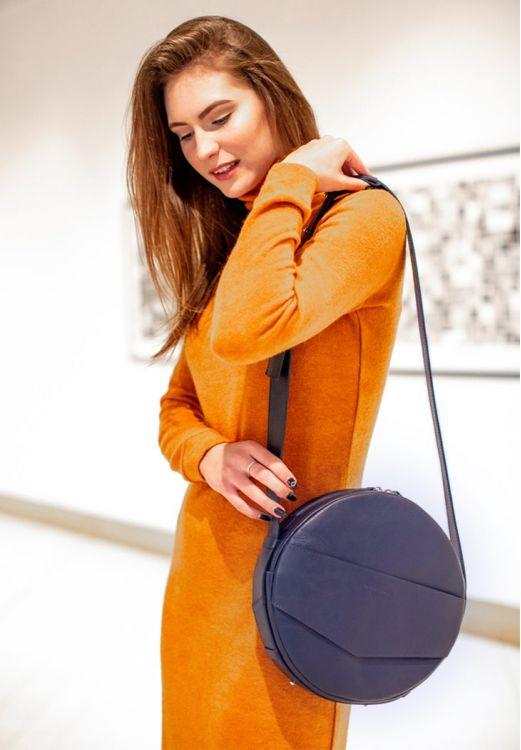 сумки Круглая сумка-рюкзак maxi Темно-синий
