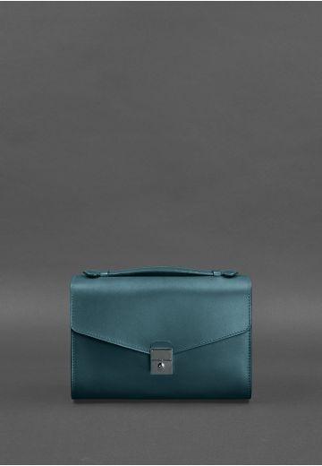 Женская кожаная сумка-кроссбоди Lola зеленая