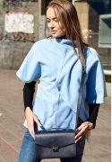 Фото Женская кожаная сумка-кроссбоди Lola темно-синяя