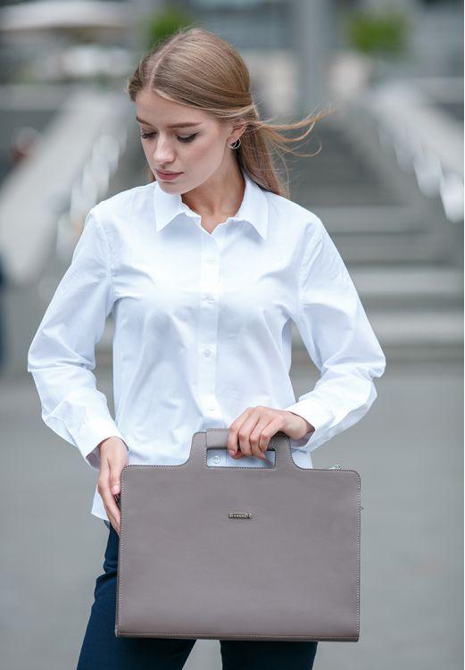Фото Женская сумка для ноутбука и документов мокко - бежевая BlankNote