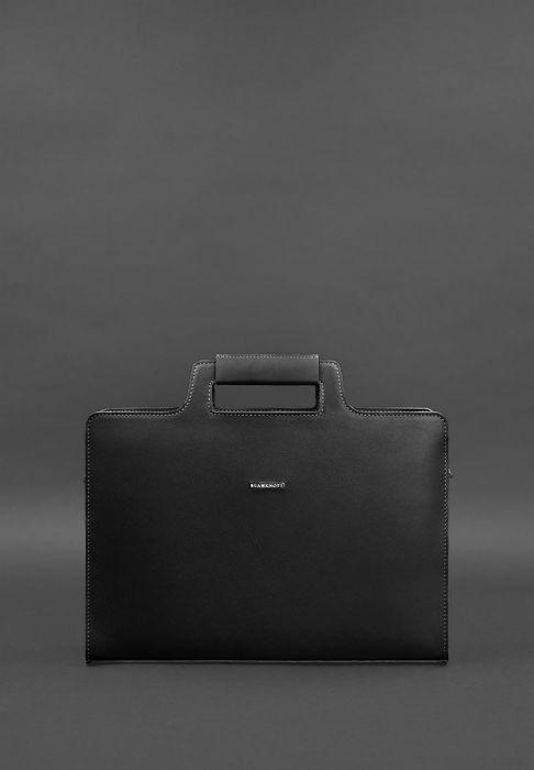 4fd4f50a9f794 Фото Женская сумка для ноутбука и документов графит - черная BlankNote