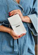 Фото Сумка поясная/кроссбоди mini (вертикальная) Белый BlankNote