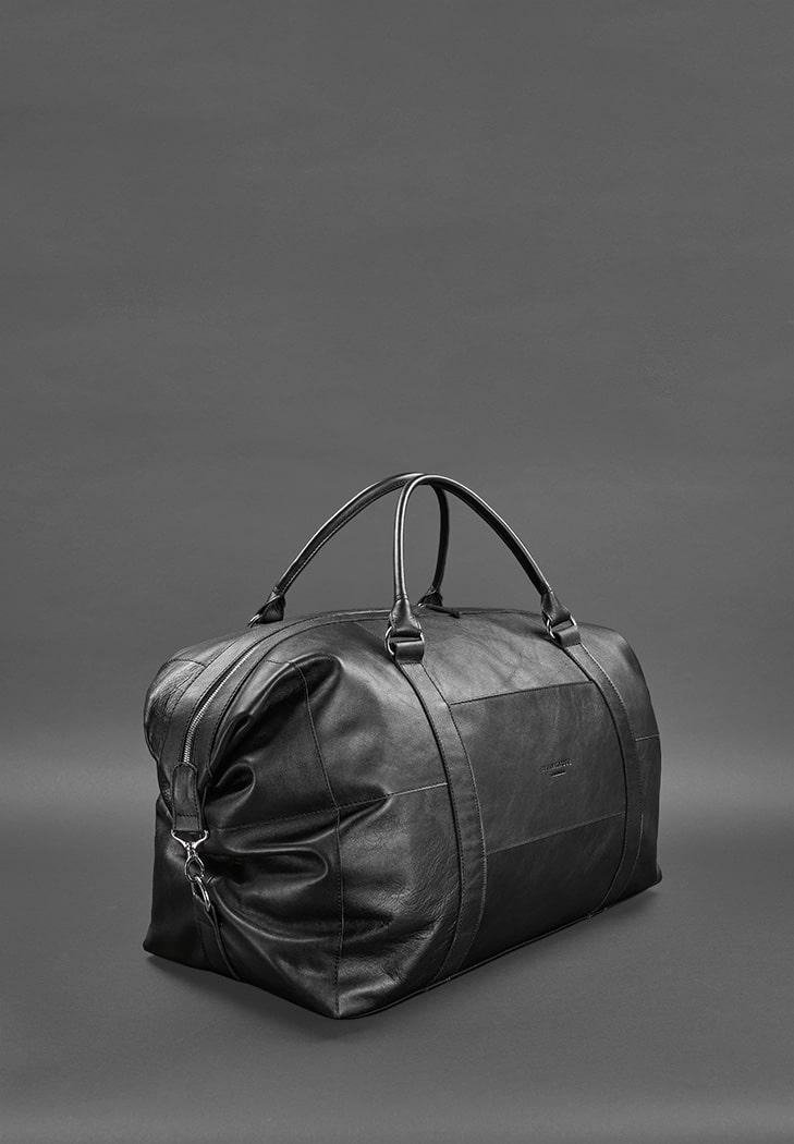 Фото Кожаная дорожная сумка черная BlankNote