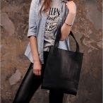 Фото Кожаная сумка шоппер черная BlankNote