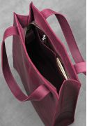 Фото Кожаная женская сумка шоппер Бэтси бордовая