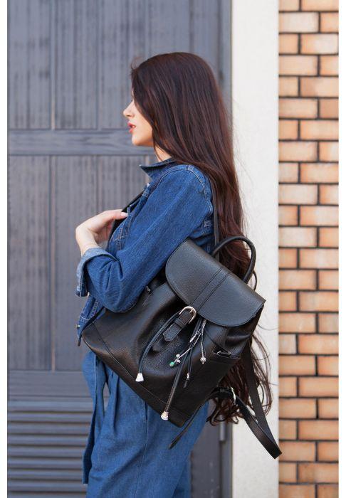Фото Кожаный рюкзак Олсен оникс BlankNote