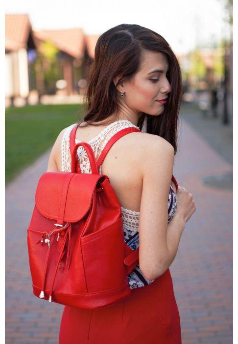 Фото Кожаный рюкзак Олсен рубин BlankNote