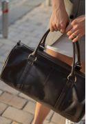 Фото Кожаная сумка Harper темно-коричневая краст (BN-BAG-14-choko)