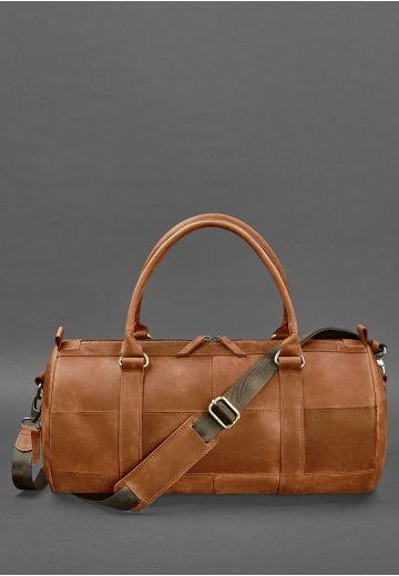 Мужская кожаная сумка Harper Светло-коричневая Crazy Horse