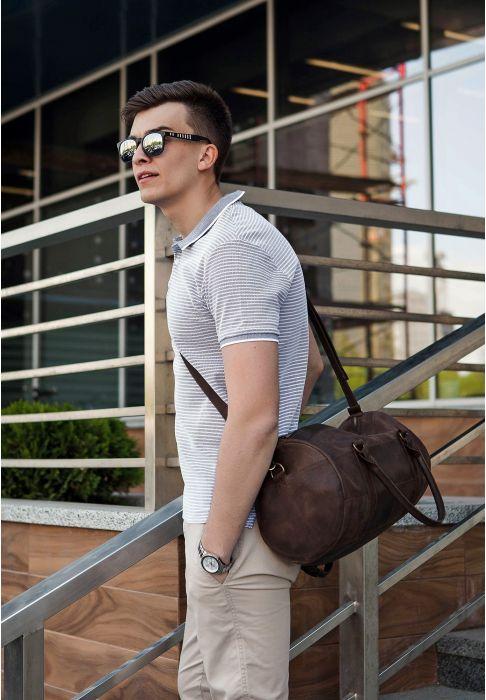 кожаная дорожняя сумка