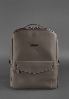 Кожаный городской рюкзак на молнии Cooper, Мокко