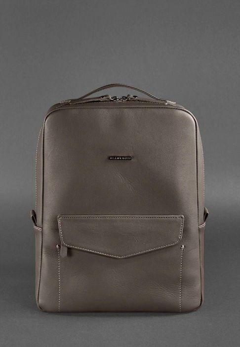 7e6e8ca36e3 Кожаный городской рюкзак на молнии Cooper