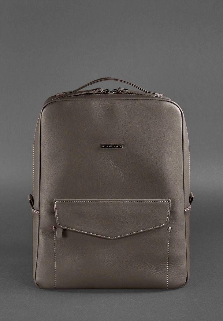 Фото Кожаный рюкзак на молнии Cooper Мокко BlankNote