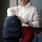 Фото Кожаный городской рюкзак на молнии Cooper мистик BlankNote