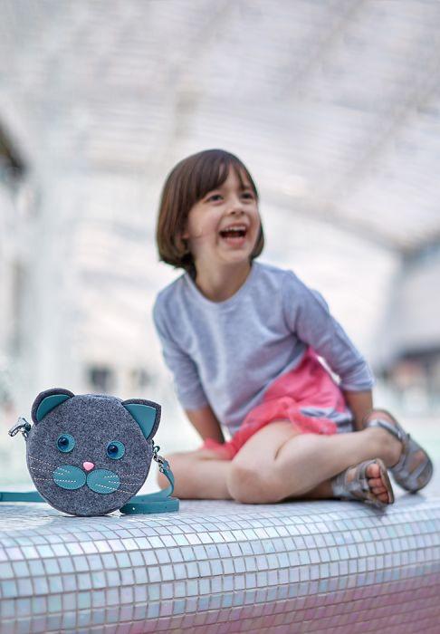 Сумка котик из фетра для девочки