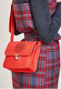Бохо-сумка Лилу коралл - красная
