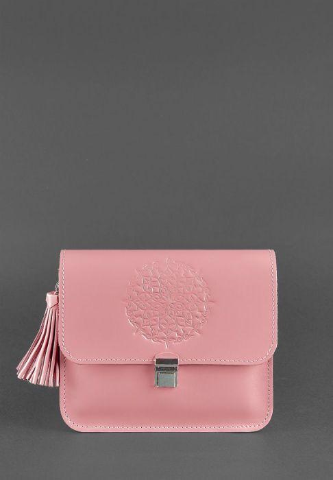 кожаная сумка ручной работы Лилу Розовый Персик