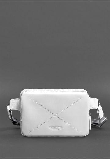 Кожаная женская поясная сумка Dropbag Mini белая